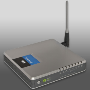 ADSL router with Wi-Fi (802.11_b-g)