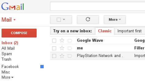 Inbox Before Filter
